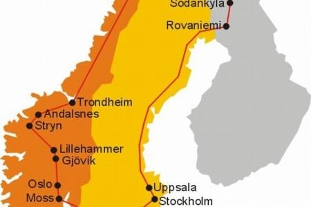 Dovolenka  - Nórsko - Skandinávie - velký okruh