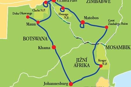 Dovolenka  - JAR – Zimbabwe – Botswana