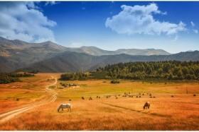Gruzie velká pěší cesta Kavkazem