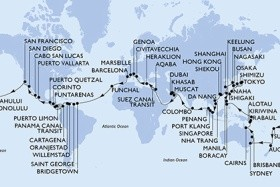 Itálie, Francie, Španělsko, Portugalsko, Barbados, Grenada, Curacao, Aruba, Kolumbie, Kostarika, Panama, Nikaragua, Guatemala, Mexiko, Usa, Samoa, Fidži, Nový Zéland, Austrálie, Papua Nová Guinea, Ekv