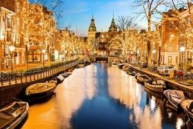 Kouzlo adventu a festival světel v Amsterdamu