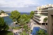 pohľad z hotelovej izby