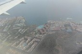pohled na areál z letadla ( jako písmeno E)