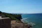 Pohled na pobřeží ze střílny