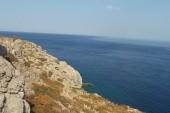 Výhled na moře z vyhlídky poblíž Faliraki