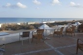 pohled z plážového baru