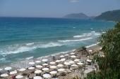 Pohled na zátoku a hotelovou pláž