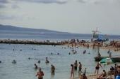 pláž před hotelem Biokovka