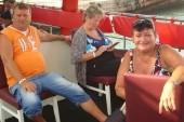 na turecké lodi.