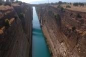 Pohled na Korintský průplav