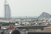 Pohľad z hotela na Burj Al Arab