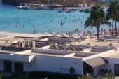 Nissi beach z hotelu
