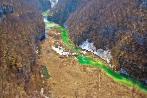 Kaňon a rieka Korana