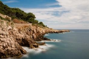 Pobrežný chodník Cap d'Antibes
