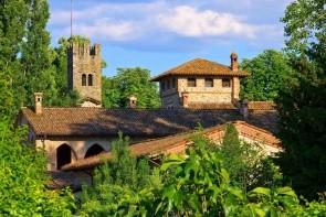 Stredoveká dedina Castello di Grazzano Visconti