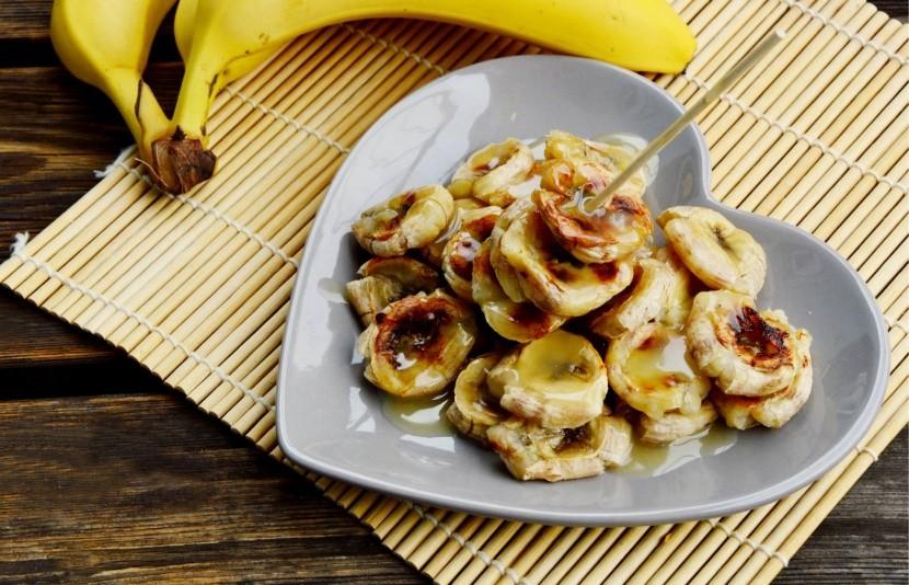 Banány s kokosom a karamelom