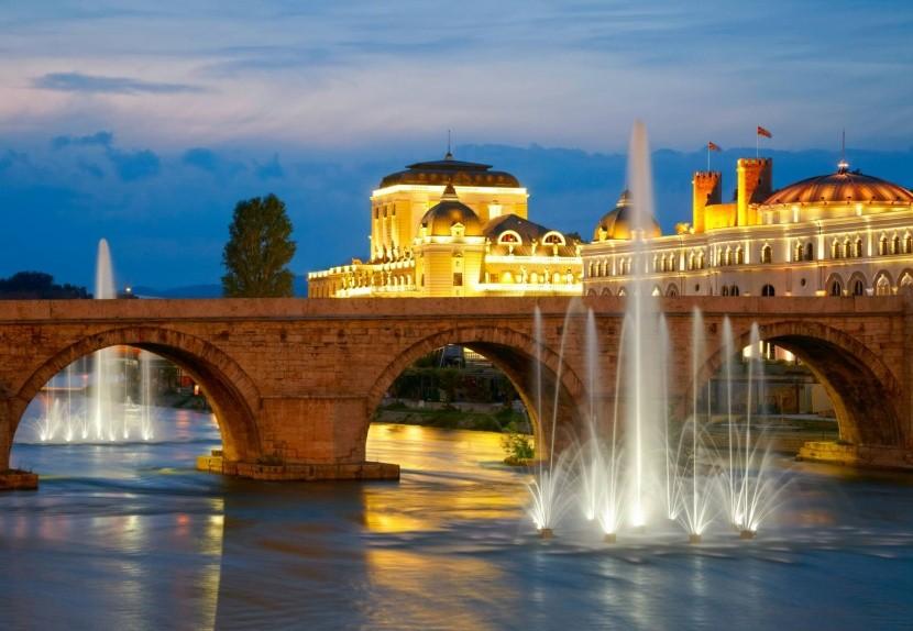 Kamenný most cez rieku Vardar
