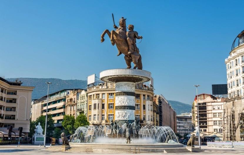 Macedónske námestie v Skopje