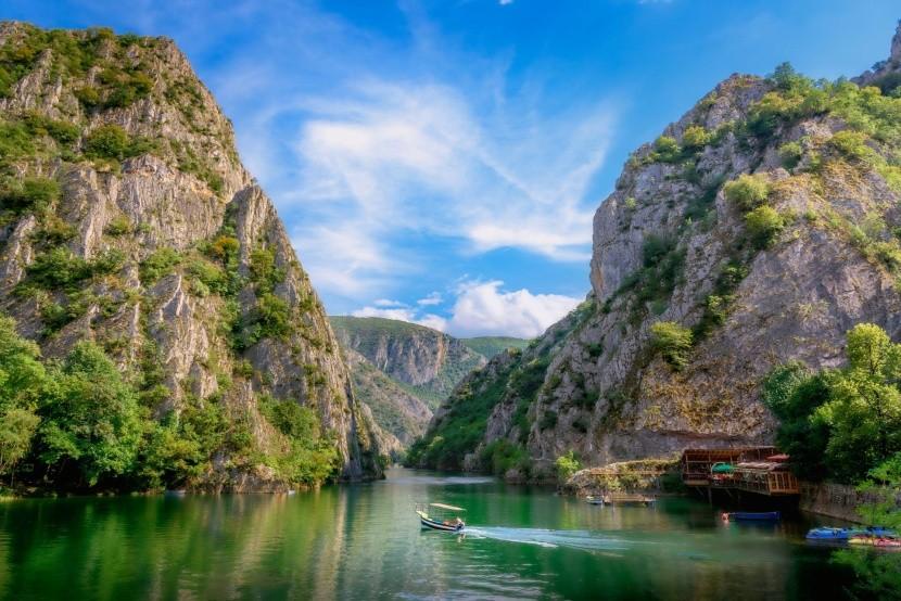 Kaňon Matka v okolí Skopje