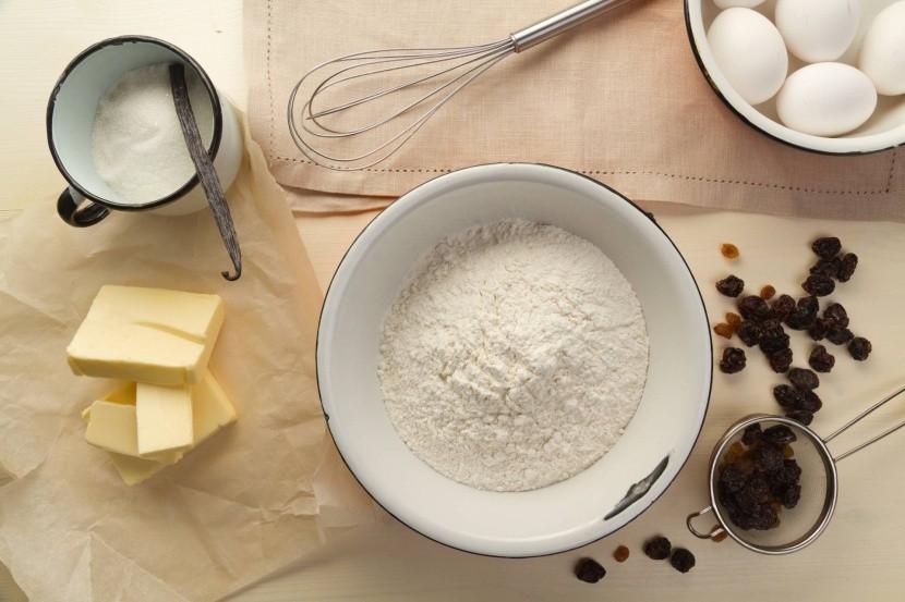 Suroviny pre prípravu panettone
