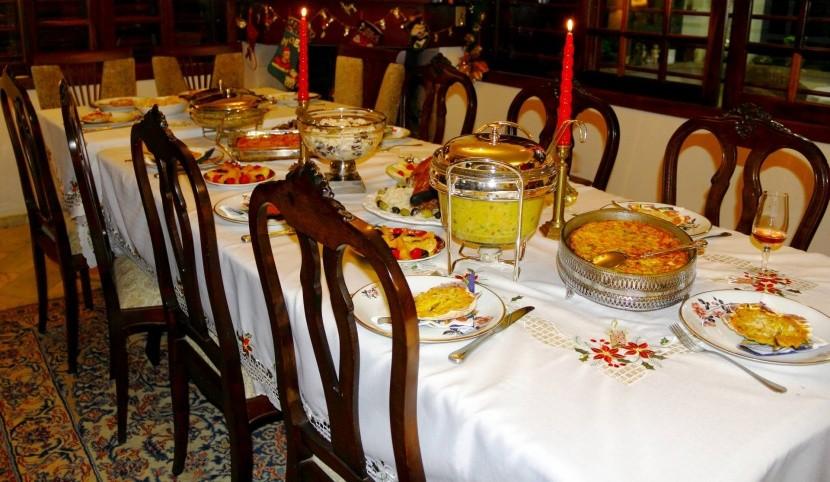 Vianočný stôľ v brazílskej rodine