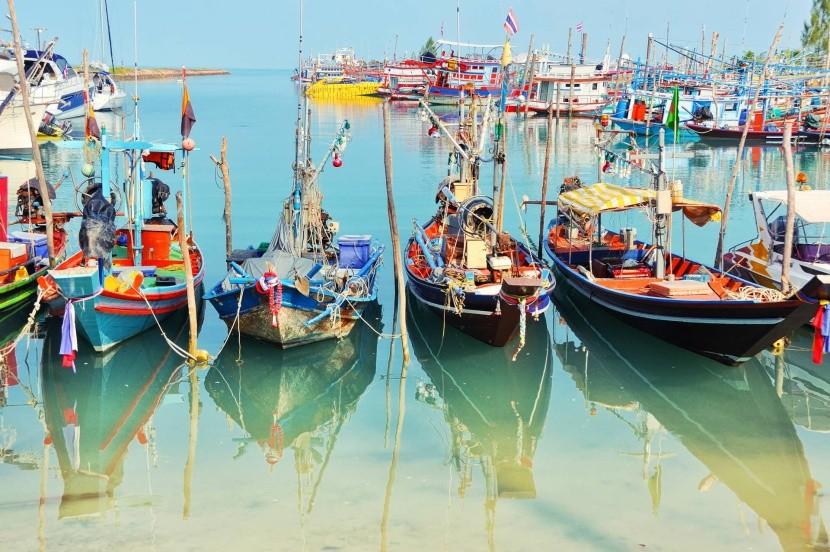 Rybárské lode na Koh Samui