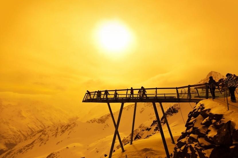 Vyhliadková plošina v Rakúskych Alpách