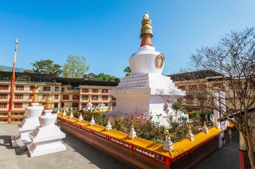 Do-Drul Chorten v meste Gangtok