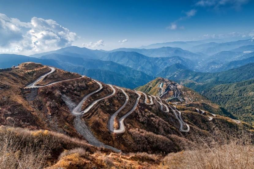 Horská cesta v Sikkime