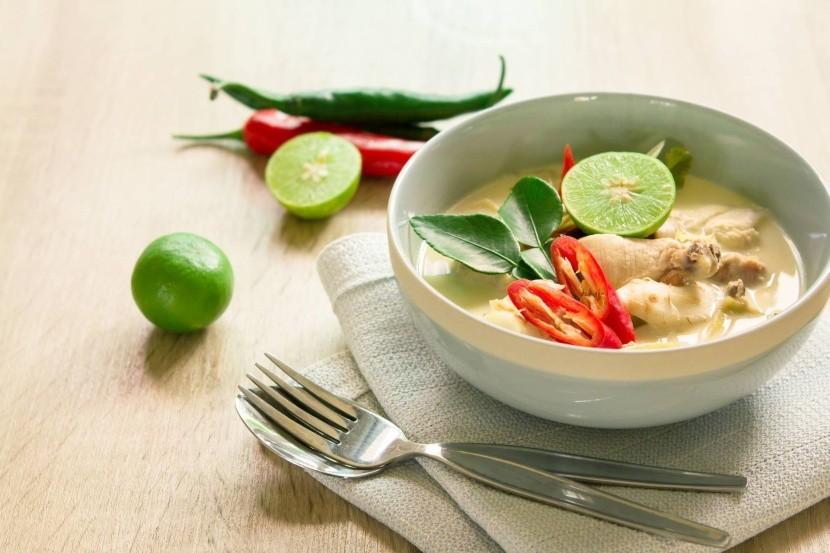 Tom kha gai - thajská kokosová polievka