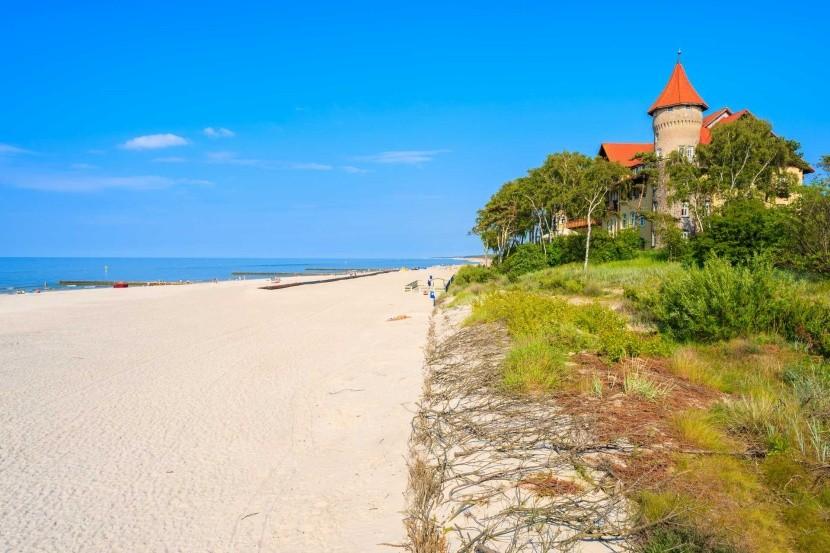 Pláž v Lebe, Baltské more, Poľsko