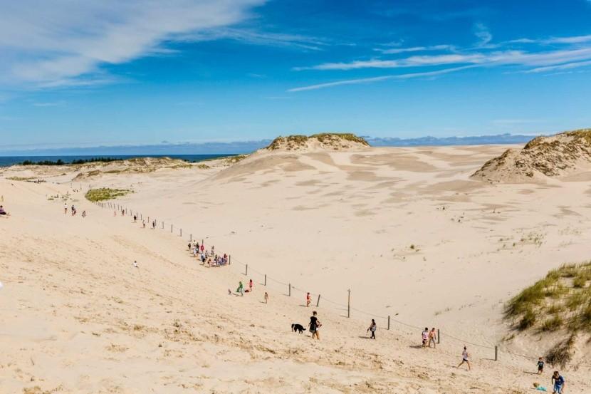 Putujúce piesočné duny, Leba, Poľsko