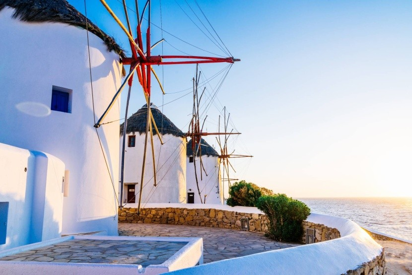 Veterné mlyny na ostrove Mykonos