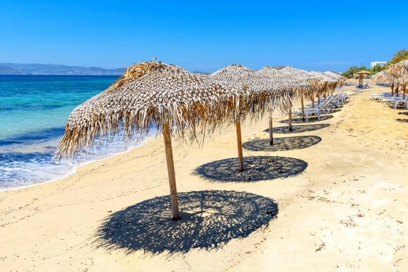Pláž Agia Anna, Naxos, Grécko