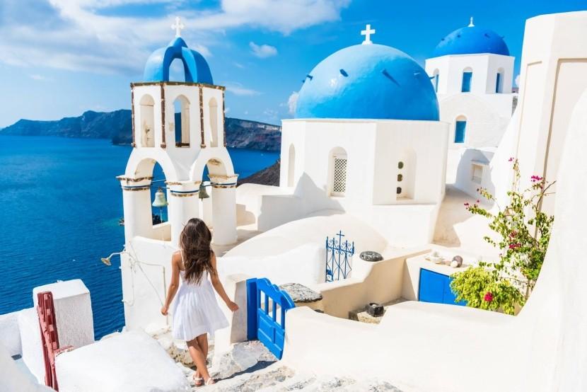 Svetoznáma Oia, Santorini, Grécko