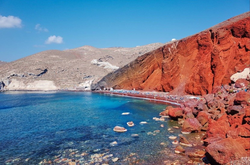 Red Beach, Santorini, Grécko