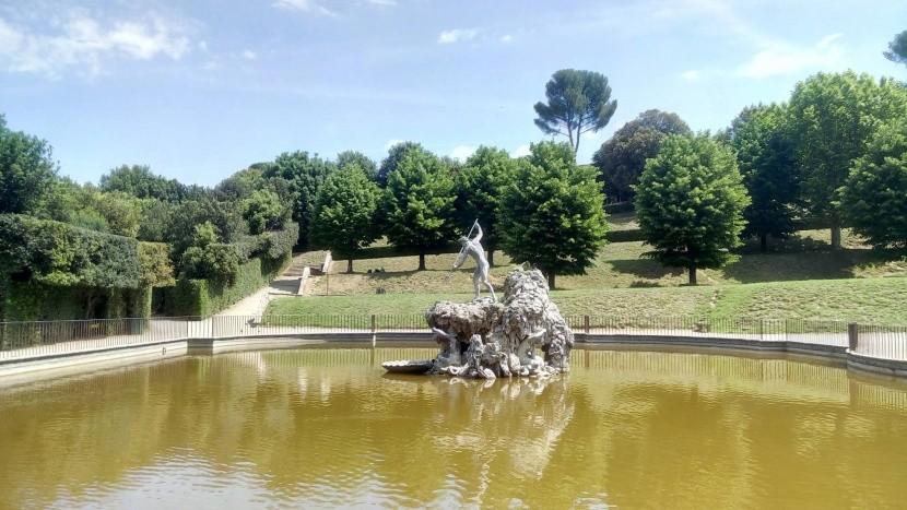 Neptunova fontána v záhradách Boboli