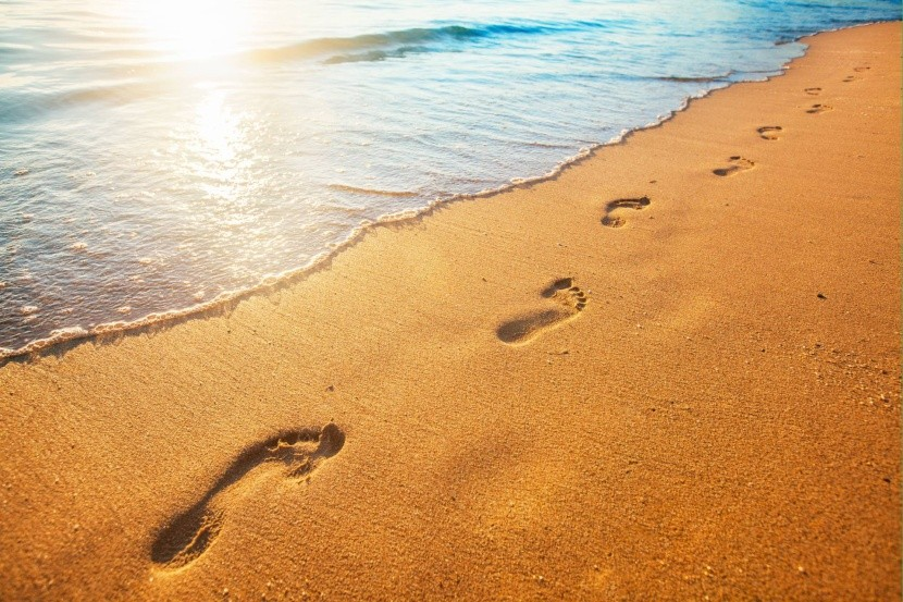 Stopy v piesku