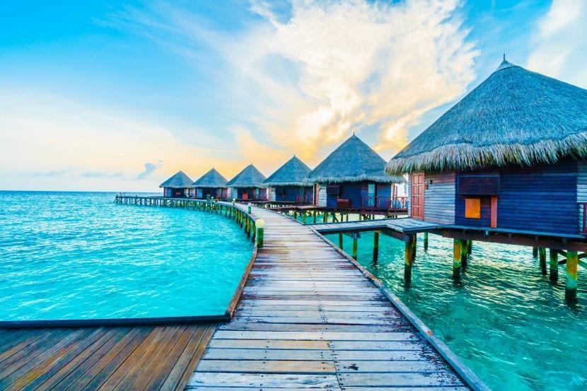 Vodné vily na Maledivách