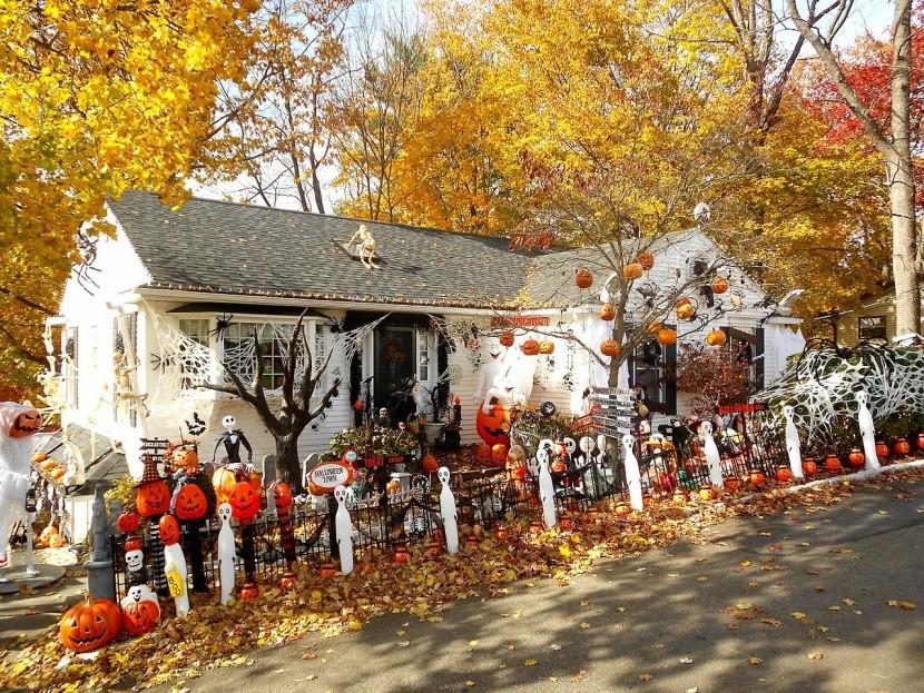 Halloweenska výzdoba domu v USA