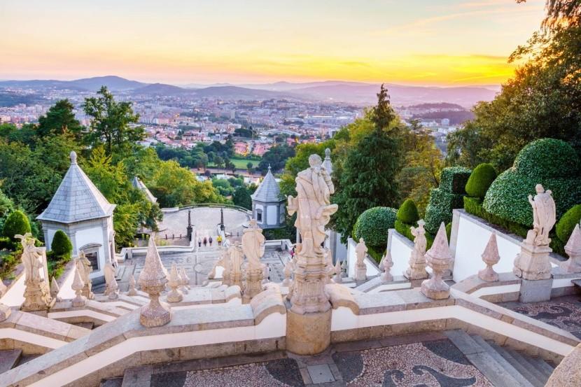 Výhľad na mesto z Bom Jesus do Monte