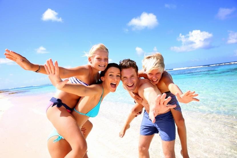 Rodinná dovolenka pri mori
