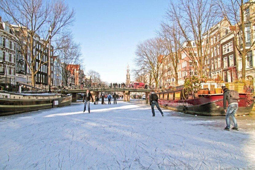 Zimný Amsterdam