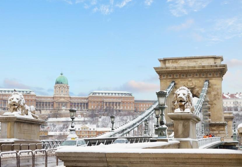 Zimná Budapešť