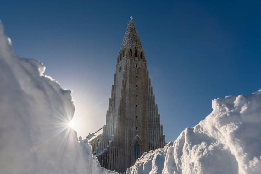 Zimný Reykjavík