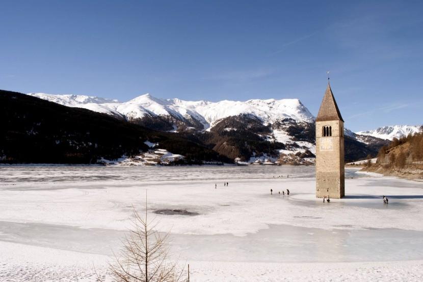 Zamrznuté Lago di Resia