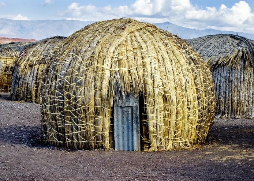 Osada kmeňa El Molo pri jazere Turkana