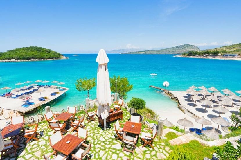 Pláž Ksamil, Albánsko