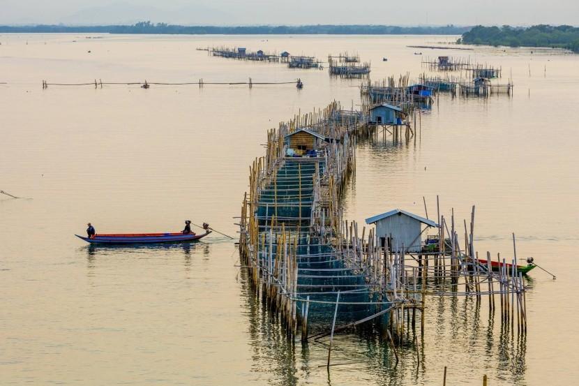 Rybárske domčeky v Chanthaburi