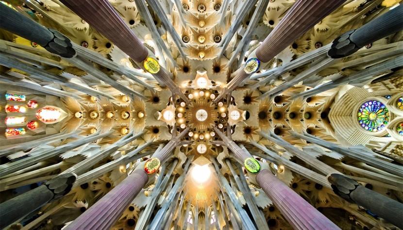 Detail stropu Sagrada Familia